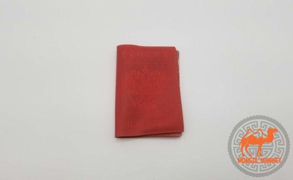 красная обложка на паспорт картинка