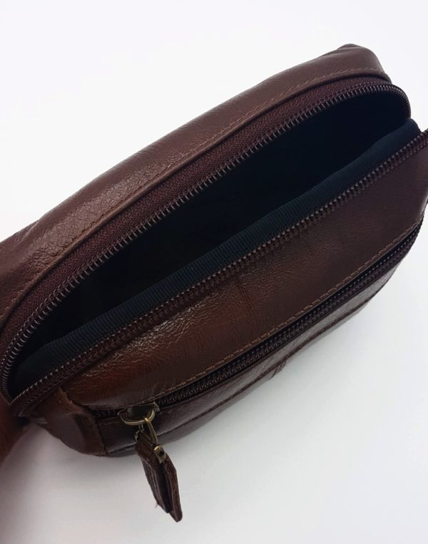фото кожаной сумки на пояс