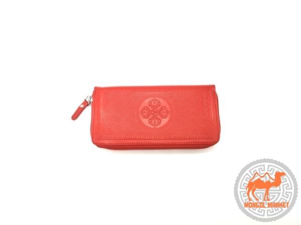 фото женский красный кошелек на замочки