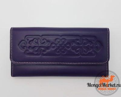 Женский сиреневый кошелек