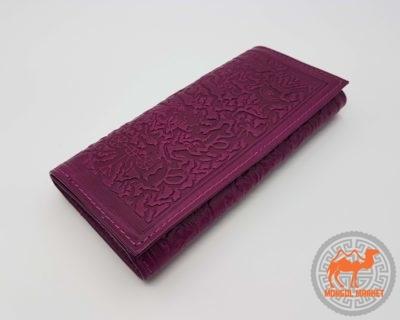 Кожаный раскладной кошелек