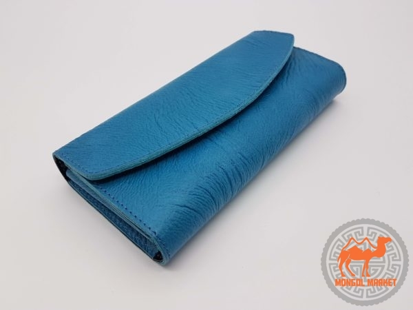 купить кошельки натуральная кожа, голубой фото