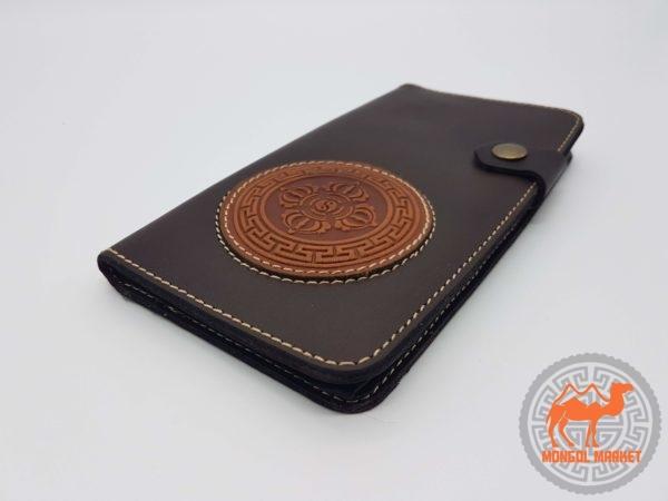 Кожаный кошелек с аппликацией