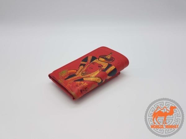 Монгольский кожаный кошелек
