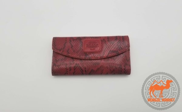 Женский кожаный кошелек под питона картинка