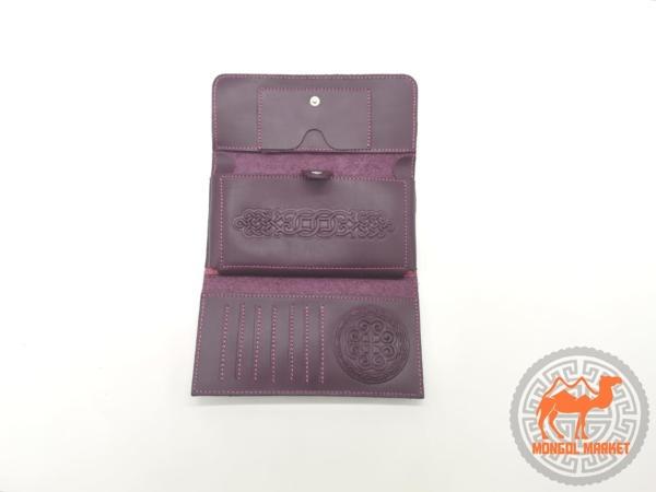 фото кожаный раскладной кошелек