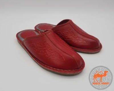Монгольские кожаные тапочки
