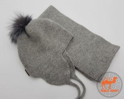 Комплект шапка и шарф детские