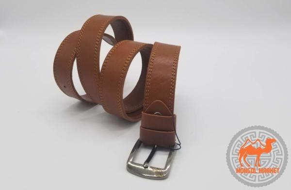 Кожаный коричневый ремень