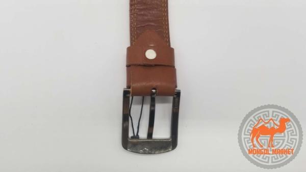 Ремень коричневый кожаный