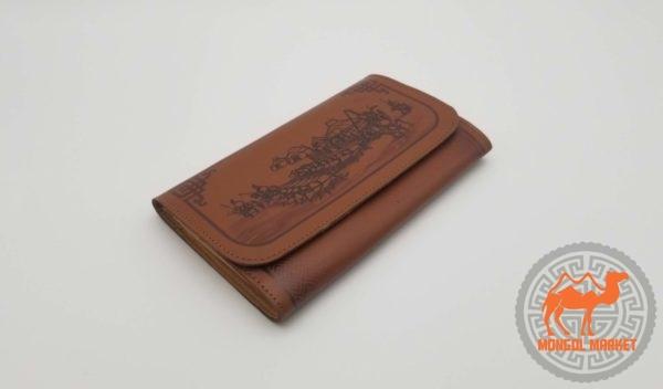 кошелек из кожи Монголия