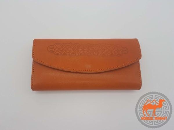 женский оранжевый кошелек