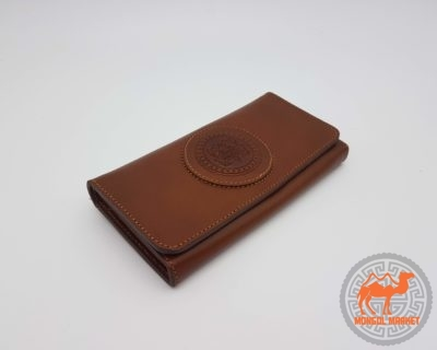 фото коричневый кожаный кошелек