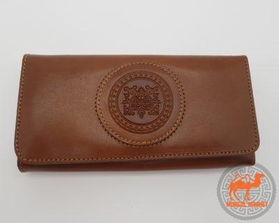 фото кошелек из натуральной кожи коричневый