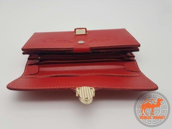 изображение монгольский красный кошелек