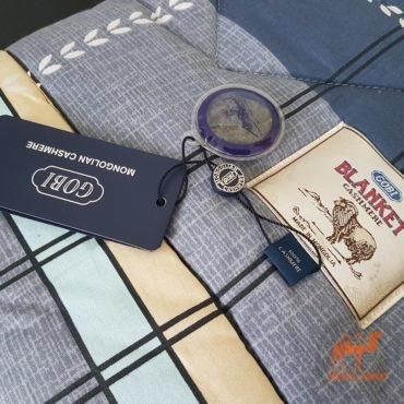 фото стеганого кашемирового одеяла гоби