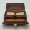кожаный кошелек на щеколде