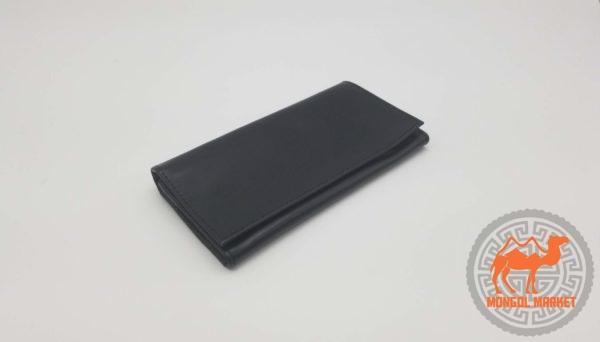 Черный женский кожаный кошелек фото