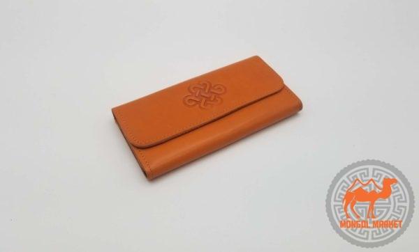 женский раскладной кошелек из натуральной кожи картинка
