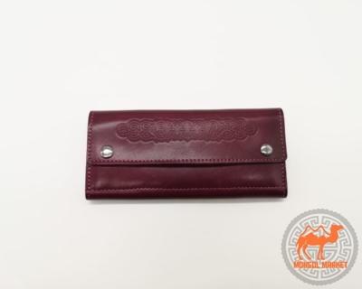 бордовый женский кошелек изображение