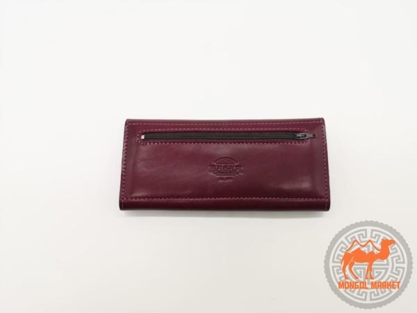 фото бордовый кожаный кошелек