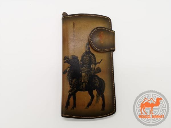 Фото мужской кошелек с богатырем
