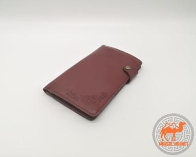широкий кожаный кошелек фото