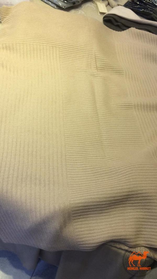 вязаный кашемировый плед Gobi фото