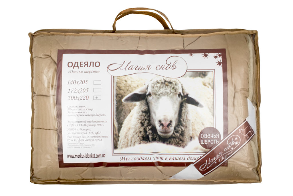 овечье одеяло фото