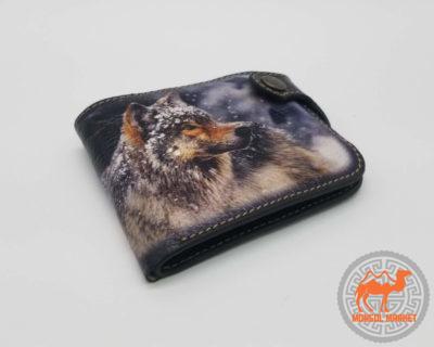 кошелк с рисунком волк