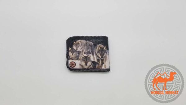 цветной кошелек рисунок волк