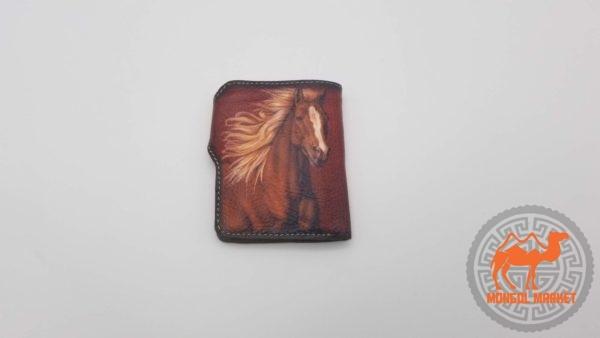 кожаное портмоне лошадь