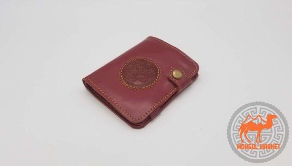 монгольский кожаный кошелек фото