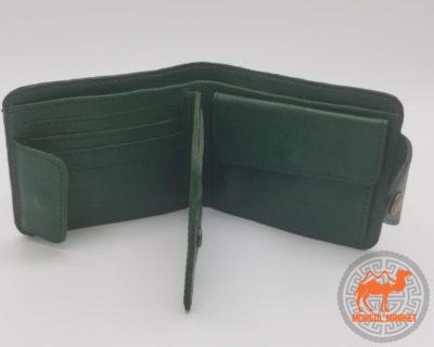 зеленый кожаный кошелек фото
