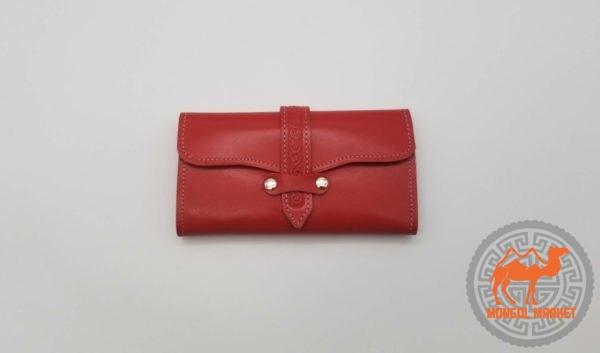кожаный портмоне из Монголии фото