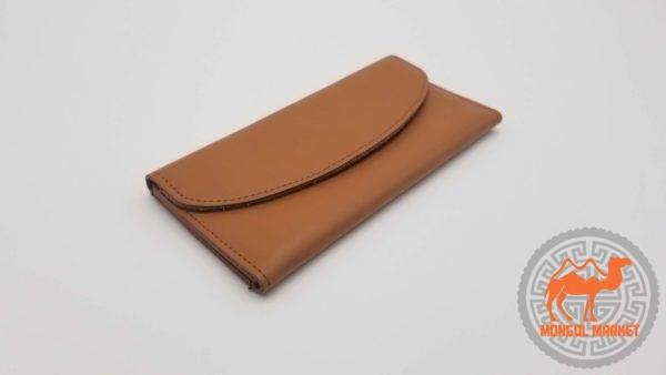 кожаный раскладной женский кошелек