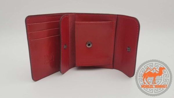 красный кожаный кошеле фото