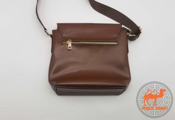 коричневая кожаная сумка мужская фото