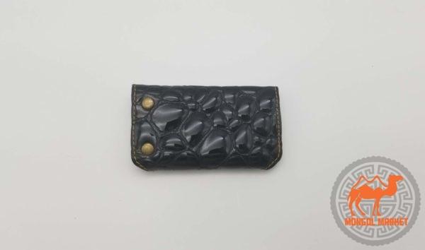 черная кожаная ключница фото