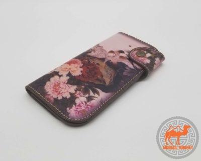 Женский цветной кошелек из натуральной кожи картинка