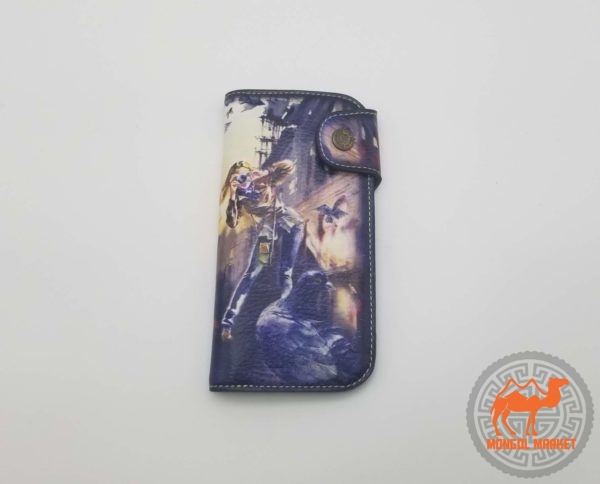Женский цветной кожаный кошелек картинка