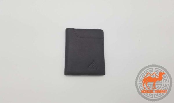 Мужской класический черный портмоне из натуральной кожи картинка
