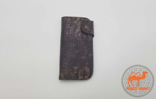 Кожаный женский кошелек коричневый картинка