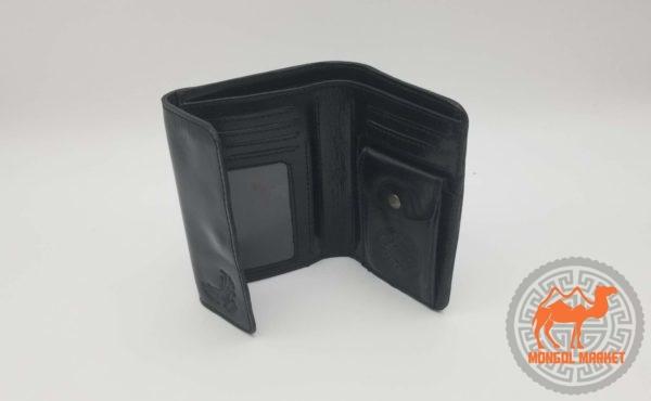 Черный кожаный кошелек картинка