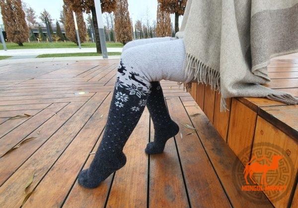 Чулки из шерсти яка Монголия фото