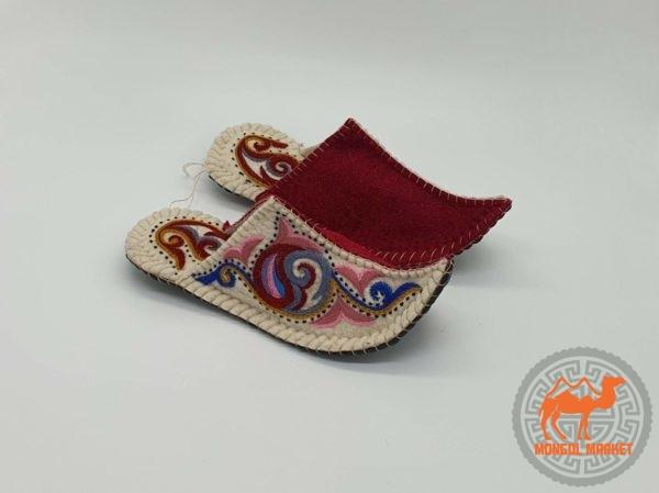 Тапочки войлочные Монголия фото