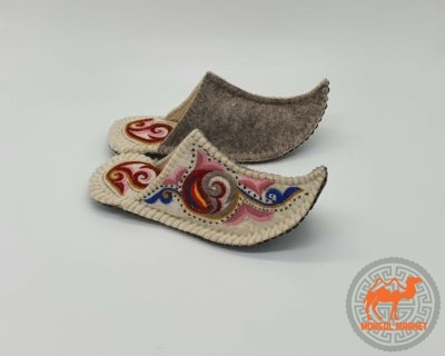 Тапочки Монгольские из войлока